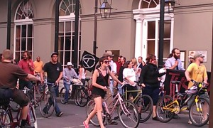 Bikes in a May Day March